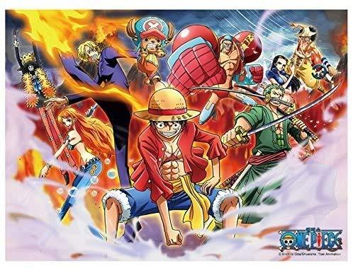 Wapipey Anime One Piece Puzzle di Legno 1000 Parte Puzzle HD Stampato Poster Puzzle Ogni abilità di Crew Collection Giocattoli educativi Hobby casa Puzzle Game Collection Puzzle Regalo di Natale
