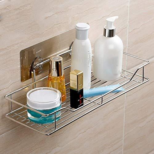 AINIYF Baño Plataforma de baño Ducha Organizador montado en la Pared Hay Necesidad de marcar ningún Rastro de Acero Inoxidable 304 1 Capa Dos Modelos (Tamaño: 35 cm)