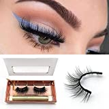 Magnetic Eyeliner With 3D Magnetic Eyelashes, Black Waterproof Magnetic Liquid Eyeliner Magnetic Lashliner For Use With Magnetic False Lashes (01)