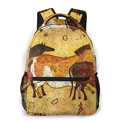 Multifunctional Casual Bapa,Fashion Trend Knapsa,Cute Bapa11.5' X 16' X 8'-Cave-Horses