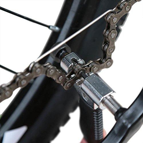 WINOMO Universal Fahrrad Kettennieter mit Kette Haken Fahrrad Kettennieter Reparatur, Fahrrad-Kette Splitter Cutter Breaker Fahrrad entfernen und installieren Breaker Spliter Kette Kettenwerkzeug - 6