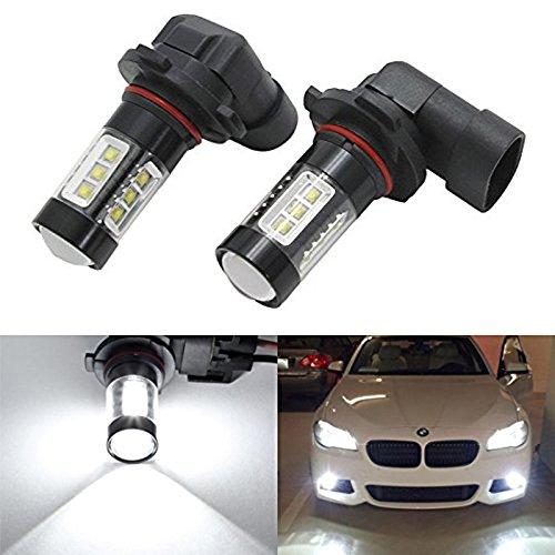 2 pcs Car Auto 80 W Cree 16 LED SMD HB4 9006 Blanc pur Course lampe Phare Feux de tête de brouillard ampoule DC 12 V