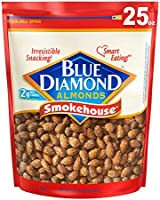 Blue Diamond Almonds Smokehouse Flavored Snack Nuts, 25 Oz Resealable Bag (Pack of 1)