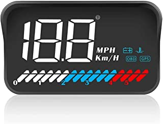 Head up Display Car Universal Dual System 3.5''HUD OBD II/GPS Interface,Vehicle Speed MPH KM/h,Engine RPM,OverSpeed Warnin...