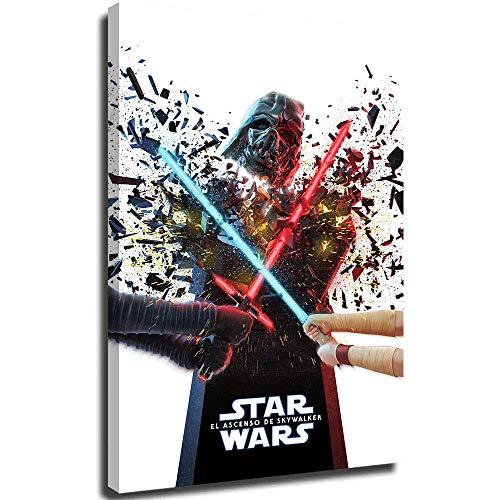 SSKJTC Paleta para sala de estar y oficina de Star Wars Break estirada y enmarcada lista para colgar 61 x 91 cm