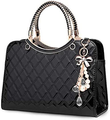 TIBES Shiny Patent Leather Women Purses and Handbags Ladies Fashion Top Handle Satchel Shoulder product image