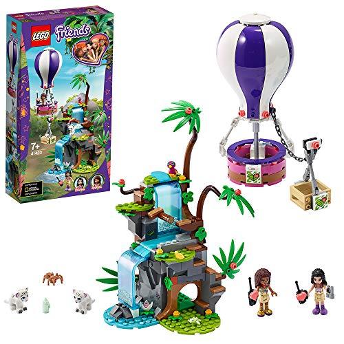 LEGO 41423 Friends Playset Salvataggio sulla mongolfiera della tigre con Andrea, Emma e le figure degli animali