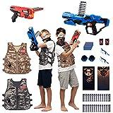BABY FUN 2 Pack Kids Adjustable Tactical Vest Kit, Nerf...
