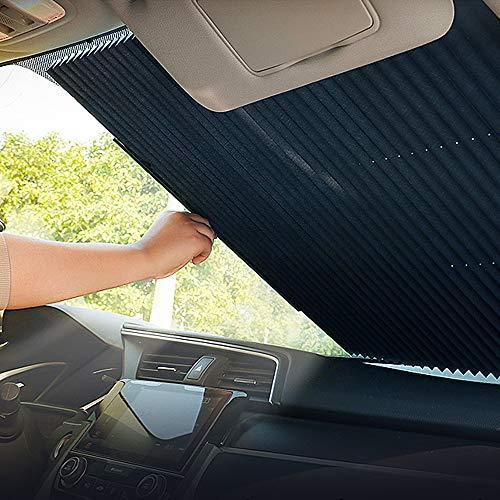 OYEFLY - Parasole per parabrezza auto, retrattile, automatico, parasole retrattile