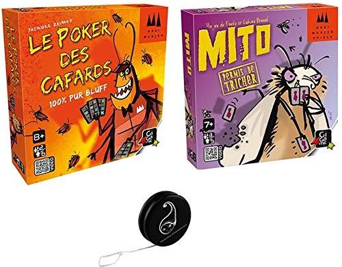 Juego de 2 juegos Gigamic – Le Poker des Cafards + Mito +