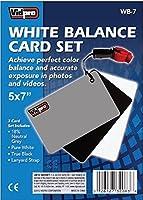 """Vidpro wb-75"""" x7""""インチホワイトバランス3カードセットwith Lanyard strap-グレー、ブラック、ホワイトでブリスター"""