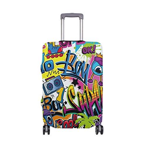 Dibujos Animados Coloridos Graffiti Pintura Wow Cubierta de Equipaje Equipaje Maleta Protector de Viaje Apto para 18-32 Pulgadas