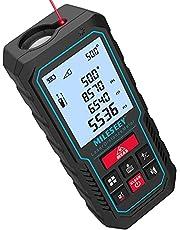 Mileseey laserafstandsmeter70m,Verbeterde Elektronische Hoeksensor, ± 2mm Nauwkeurigheid, pythagoras, Oppervlak en Volume, LCD Scherm met Achtergrondverlichting, Inclusief Batterij