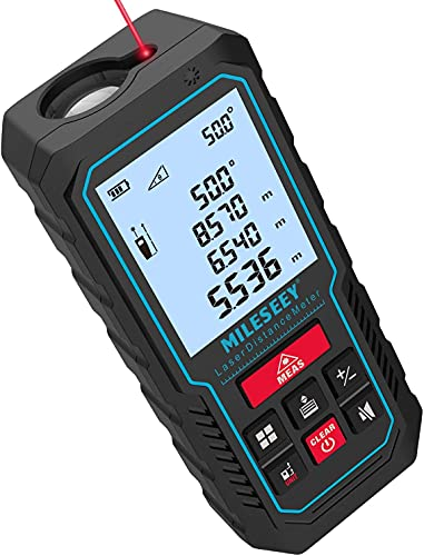 Telemetre Laser 70M, MiLESEEY Metre Laser Avec Niveau Électronique Amélioré, Précision +/- 2 mm,...