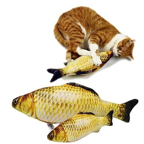 Oulensy Forma 3D De Los Pesca Los Regalos De Juguetes del Gato Hierba Gatera Pescado Relleno De Almohadas Simulación De Pescado Que Juega Juguete