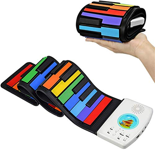 Best Buy! Performer Piano 49 Keys Roll Up Piano Portable Rechargeable ElectronicPiano Keyboard for K...