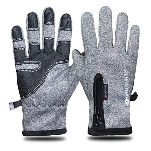 wasserdichte Outdoor-Handschuhe Ski-Touchscreen Winter Männer und Frauen Winddichte und warme Fleece reflektierende Reitreißverschluss Vollfingerhandschuhe