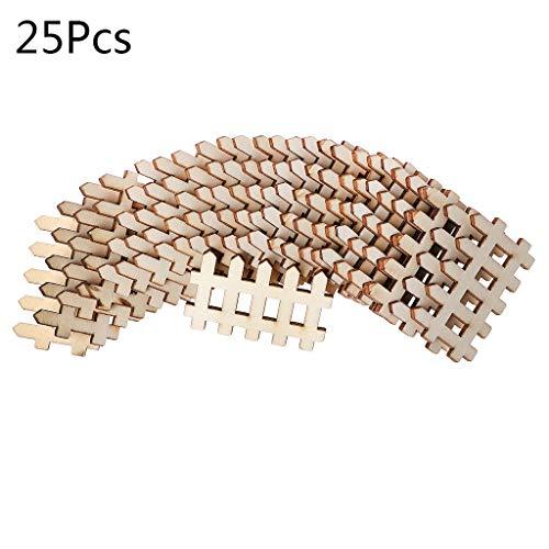 Mikiya Holzzaun in Form eines Holzzauns, Basteln, Dekoration, Hochzeit, Basteln, Handarbeit, aus Holz, Zubehör für Handarbeiten