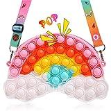 OBOVO Pop Bolso It, Simple Fidget Toy Pop Its Bolso para Regalo Bebe Antiestres Adultos Niños Autismo, Sensorial Juguete Niños Bolsos De Moda Creativos Juguetes Hechos A Mano