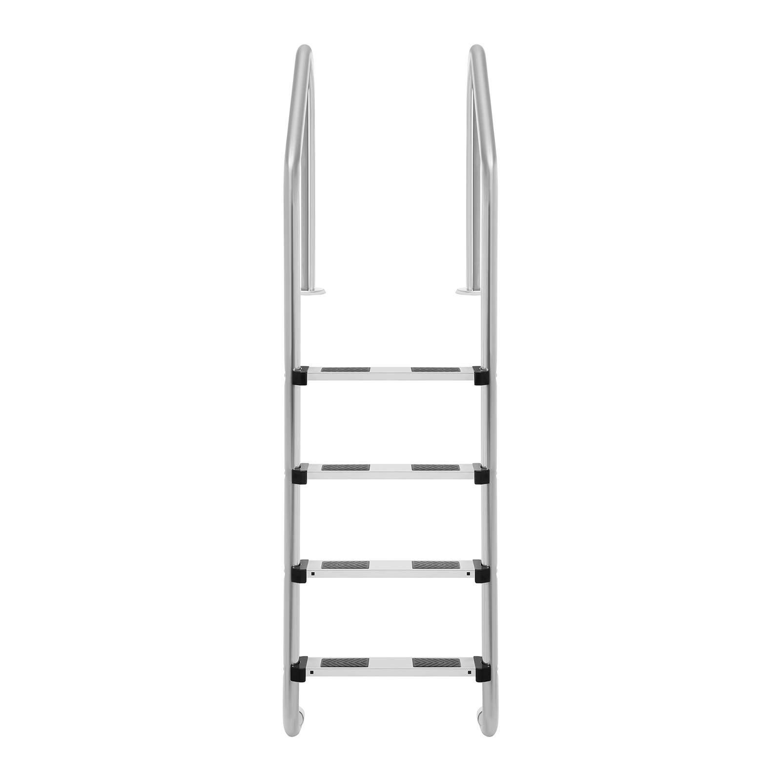 Uniprodo Escalera De Piscina Escalerilla Uni_Pool_Ladder_1820 (Ancho del Peldaño: 7,5 cm, 4 Peldaños, Perfil De Arco Normal): Amazon.es: Jardín
