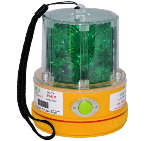 P24LM2 GREEN 24 LED PORTABLE SAFETY LIGHT 50 LBS PULL MAGNET PERSONAL HAZARD EMERGENCY WARNING LIGHT