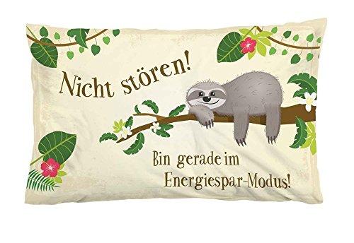 Nicht stören! Bin gerade im Energiespar-Modus!: Kissen