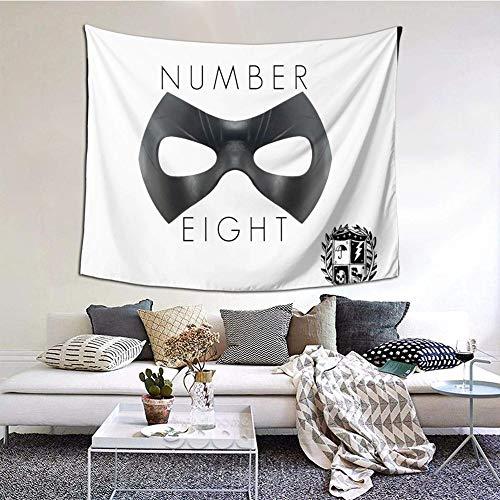 Hdadwy The Umbrella Academy I Am Number Tapiz de Pared Decorativo Dormitorio Sala de Estar Dormitorio Decoración de Fiesta 60x51 in
