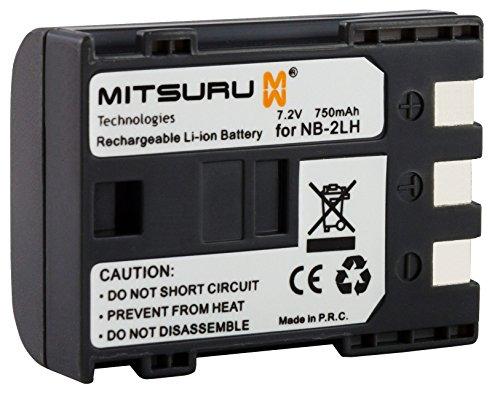 Mitsuru® Batteria NB-2L / NB-2LH per Canon EOS 350D 400D Canon Powershot G7 G9 S30 S40 S45 S50 S60 S70 S80 - DC310 DC320 DC330 DC410 DC411 DC420 - MVX20i MVX/ 25i MVX30i MVX35i MVX40 MVX45i MVX200 MVX250i MVX300 MVX330i MVX350i