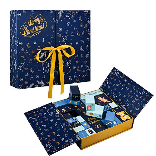 EKKONG Adventskalender zum Befüllen 24 Überraschungen in Verschiedene Form Schöner Kleine Kiste, Adventskalender 2020 Exklusive Geschenkidee für Weihnachten zum Verzieren