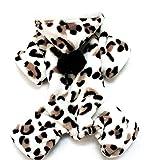 SMALLLEE_Lucky_Store Forro Polar Pijama Jumpsuit Mono Abrigo Capucha con Pelo Invierno para Perro Pequeño,Perrito Leopardo L