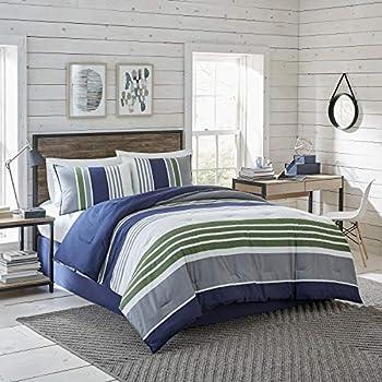 IZOD Liam Comforter Set Cotton Indigo Twin 2 Piece Comforter & Sham