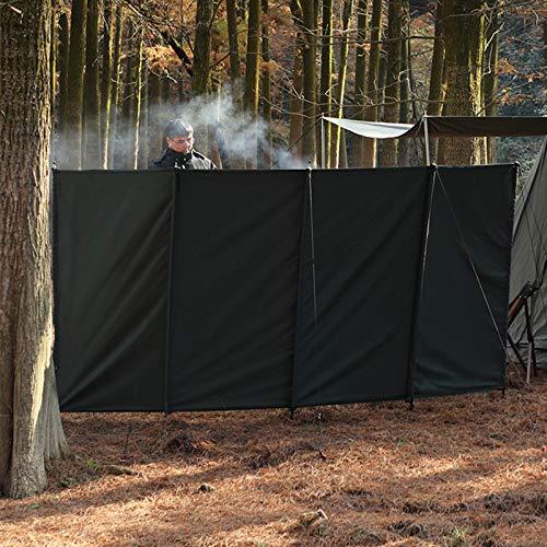 GYAM Outdoor Camping Windschutzscheibe Fold Picknick Lagerfeuer Windschutz 140x300CM Windschutzscheibe zum Grillen Camping Herd Wandern,Grün
