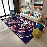Xiaosua Alfombra Silla Oficina Rosa Alfombra Sala de Estar Estampado de Flores Grande Rosa Alfombra Durable Lavable alfombras recibidor 180X280CM alfombras 5ft 10.9''X9ft 2.2''