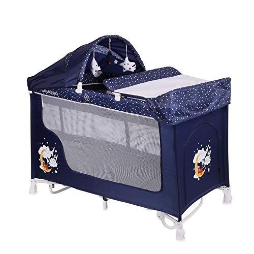 Lorelli 10080091804 Lit Parapluie + Mode à Bascule San Remo 2+ Bleu