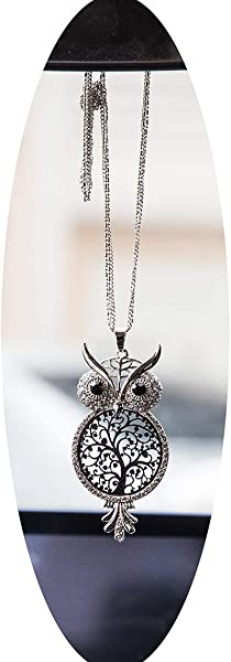 Boltz Tree Of Life Owl Car Charm Rear View Mirror Accessories Car Mirror Hanging Ornaments Decoration Key Charm Key Golden Color Owl Family Tree Grey Color Owl Family Tree Grey Color