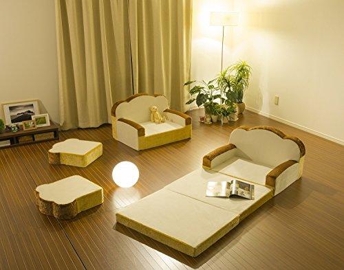 セルタン日本製低反発食パンソファーベッド折畳マット一人掛け日本製A399a-359WH/515BE/516BR