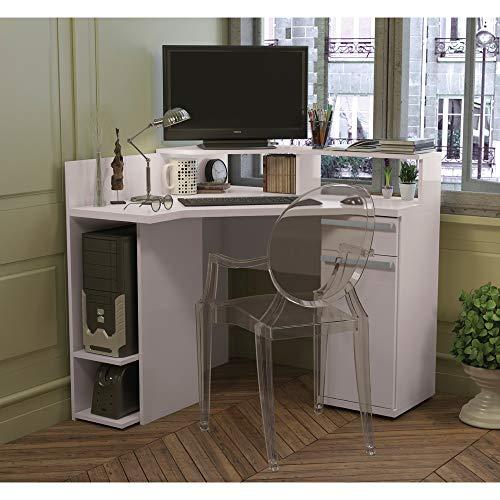 Mesa Escrivaninha De Canto 1 Porta S975 Kappesberg - Branco