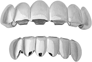 Halloween Suicide Squad Joker Jared Leto Silver Mouth Teeth Grillz Set w At-Home Mold Kit