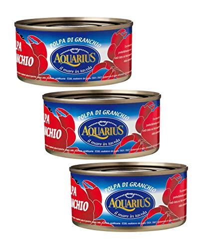 Carne de cangrejo Acuario en salmuera (100% pulpa) - 3 x 170 gramos