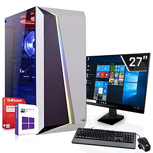 Gaming Komplett PC Set|Intel Core i9-9900K 8x3.6GHz|Marken Board|27 Zoll Monitor|Nvidia GeForce RTX 3070 8GB GDDR6|1000GB SSD + 2000GB HDD|ohne Laufwerk|Windows 10 Pro|WLAN|3 Jahre Garantie