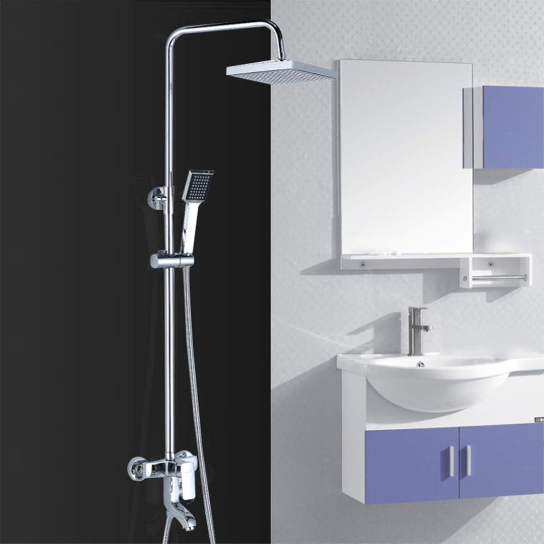 LPW shower setbathroomshower shower setall coppershowerhot and coldfaucetbathroomsprinklerliftingwall-mountedrain shower set