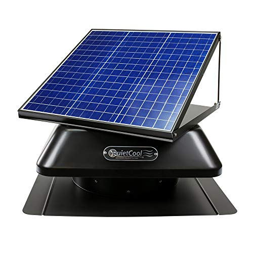 QuietCool 30 Watt Solar Powered Roof Mount Attic Fan