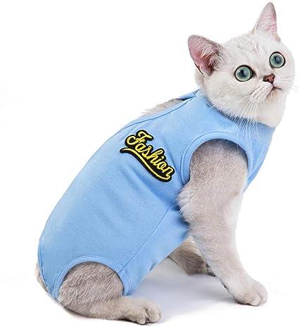 hongyupu Traje De Recuperación para Gatos Ropa para Gatos ...
