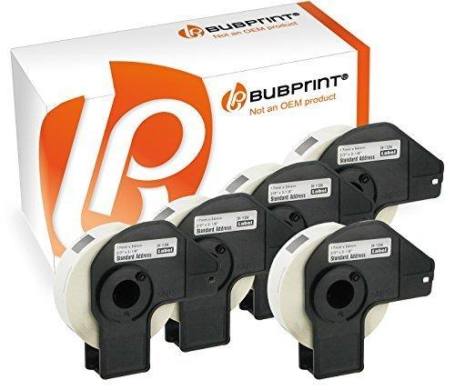 Bubprint 5 Etiketten kompatibel für Brother DK-11204 DK 11204 für P-Touch QL1050 QL1060N QL500 QL550 QL560 QL570 QL580N QL700 QL710W QL720NW 17x54mm