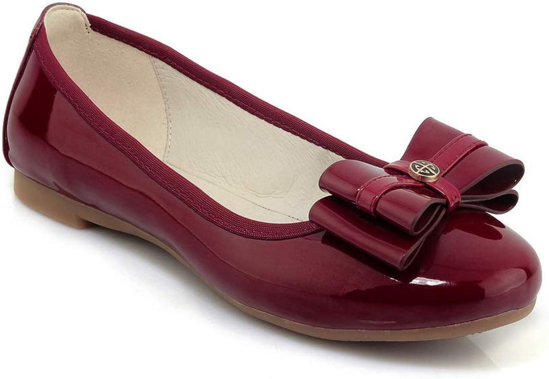 AN Womens Bows Patent-Leather Pumps shoes DGU00749