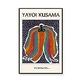 Famoso artista Yayoi Kusama póster de exposición impresiones abstractas y póster cuadros de pared de arte pinturas de lienzo sin marco A1 30x45cm