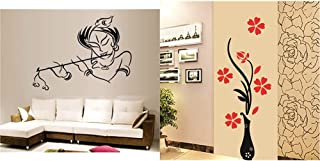 Decals Design StickersKart Wall Stickers Krishna Modern Art& 'Flowers with Vase' Wall Sticker