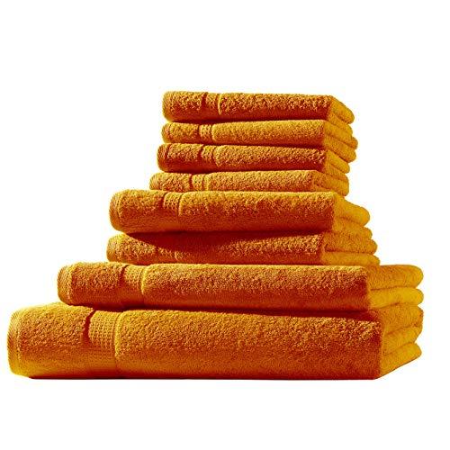 1x Toalla de baño + 1x Toalla de Ducha + 2X Toalla + 4X Toalla para Invitados | Terra | 100% Rizo de algodón | ÖKO-Tex Standard 500 g/m²