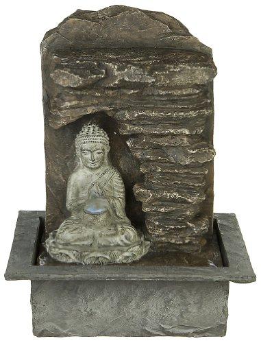 AG Buddha Zimmerbrunnen Luftbefeuchter mit Beleuchtung NEUHEIT