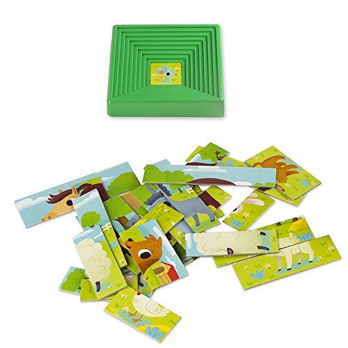 Lisciani 47420 - 9 Progressive Baby Puzzle The Farm